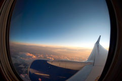 powietrzna podróż Zdjęcia Stock