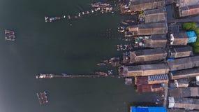 Powietrzna rybak wioska w Phang nga Obraz Stock