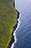 Powietrzna scena Wzdłuż wyspy ` s wschodniego wybrzeża, Maui, Hawaje zdjęcie royalty free