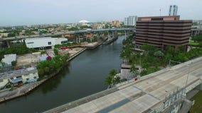 Powietrzna wideo Miami rzeka i I95 zdjęcie wideo