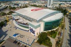 Powietrzna wizerunku Tampa FL Amalie arena Zdjęcia Royalty Free