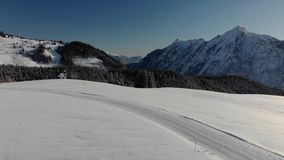 Powietrzne Austria góry na słonecznym dniu zdjęcie wideo