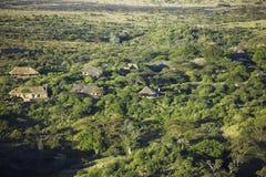 Powietrzne fotografie przegapiać Lewa kwaterę w Kenja i Conservancy, Afryka Fotografia Royalty Free