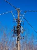 Powietrzne linie dla władzy dystrybuci Fotografia Stock