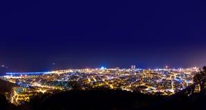 Powietrzne nocy Santa Cruz de Tenerife wyspy kanaryjska Obraz Royalty Free