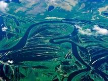 powietrzne rzeki Russia zdjęcia royalty free
