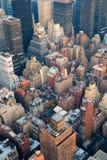 powietrznego miasta Manhattan nowy linia horyzontu widok York Fotografia Stock