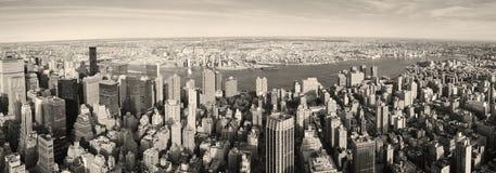 powietrznego miasta Manhattan nowy panoramy widok York Fotografia Stock