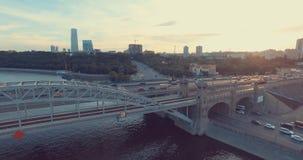 powietrznego miasta miastowy widok zbiory wideo