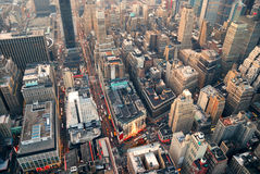 powietrznego miasta nowy uliczny widok York Obrazy Royalty Free