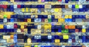 Powietrznego odg?rnego widoku poci?gu nocy rynku ratchada wielo- koloru abstrakcjonistycznej sztuki czasu up?ywu pi?kny widok w B zdjęcie wideo