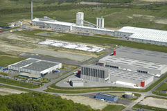 powietrznego terenu przemysłowy widok Obrazy Royalty Free