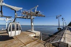 Powietrznego tramwaju park narody Lisbon Obraz Royalty Free