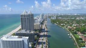 Powietrznego trutnia Miami plaży indianina wideo zatoczka zdjęcie wideo