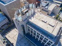 Powietrznego trutnia ` s oka Ptasi widok miasto Raleigh, NC obraz stock