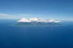 powietrznego wyspy moorea tropikalny widok Obrazy Royalty Free
