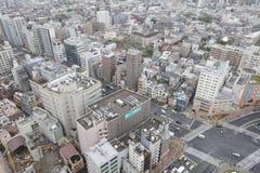 powietrznej bunkyo dzielnica miasta Japan nowożytny linia horyzontu Tokyo widok Zdjęcia Stock