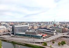 powietrznej centrali staci Stockholm taborowy widok Fotografia Stock