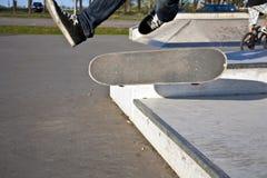 powietrznej chłopiec idzie scateboard Fotografia Stock