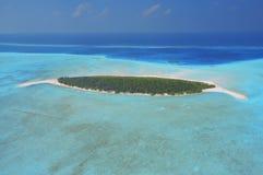 powietrznej deserowej wyspy bezludny widok Obrazy Royalty Free