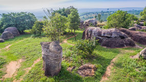 powietrznej fotografii naturalna kamienna rzeźba przy Mo Hin Khao Obrazy Stock