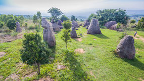 powietrznej fotografii naturalna kamienna rzeźba przy Mo Hin Khao Zdjęcie Royalty Free