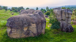 powietrznej fotografii naturalna kamienna rzeźba przy Mo Hin Khao Obrazy Royalty Free