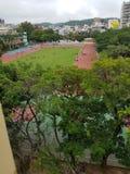 Powietrznej fotografii szkoły boisko obrazy royalty free