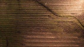 Powietrznej fotografii wzór na Ziemskim Śródpolnym Abstrakcjonistycznym żniwo sezonie Obrazy Stock