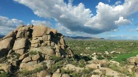Powietrzni Arizona głazy wzrasta above zbiory wideo