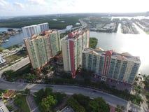Powietrzni fotografia budynki w Miami Zdjęcie Stock