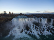 Powietrzni Niagara spadki Zdjęcie Stock
