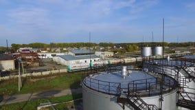 Powietrzni odgórnego widoku oleju składowi zbiorniki zapas Odgórny widok wielcy nafciani zbiorniki zbiory