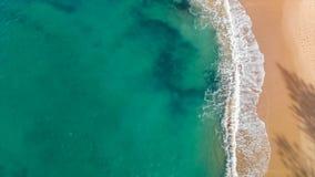 Powietrzni panoramiczni wizerunki Dicky plaża, Caloundra, Australia zbiory