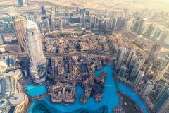Powietrzny śródmieście Dubaj widok zdjęcie royalty free