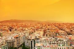 powietrzny agbar Barcelona diagonalny familia Sagrada tibidabo torre widok Fotografia Stock