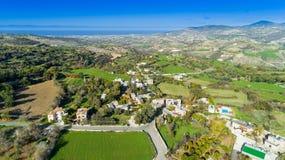 Powietrzny Akourdalia, Paphos, Cypr Fotografia Royalty Free