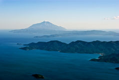 powietrzny athos góry widok Obraz Stock