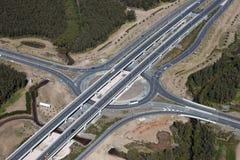 powietrzny autostrady wymiany złącza widok Obraz Stock