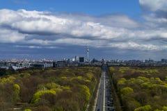 powietrzny Berlin centrali widok Zdjęcia Royalty Free
