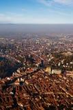 powietrzny brasov miasta Romania widok Zdjęcia Stock
