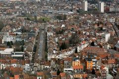 powietrzny Brussels budynków miasta widok obraz royalty free