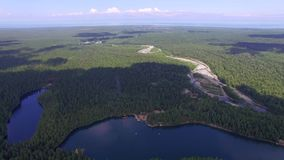 powietrzny Bulgaria halny fotografii strandja Nadziemski krajobraz krajobraz z halnym jeziorem w Syberia blisko Jeziornego Baikal zbiory wideo