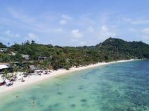 Powietrzny butelki plaży widok, Koh Phangan Obrazy Royalty Free