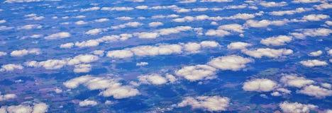 Powietrzny Cloudscape widok nad Midwest stanami na locie nad Kolorado, Kansas, Missouri, Illinois, Indiana, Ohio i Zachodnia Virg zdjęcie royalty free