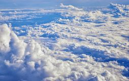 Powietrzny Cloudscape widok nad Midwest stanami na locie nad Kolorado, Kansas, Missouri, Illinois, Indiana, Ohio i Zachodnia Virg fotografia royalty free