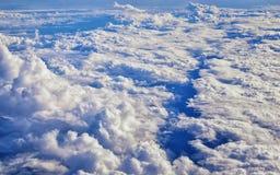 Powietrzny Cloudscape widok nad Midwest stanami na locie nad Kolorado, Kansas, Missouri, Illinois, Indiana, Ohio i Zachodnia Virg zdjęcie stock