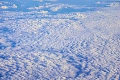 Powietrzny Cloudscape widok nad Midwest stanami na locie nad Kolorado, Kansas, Missouri, Illinois, Indiana, Ohio i Zachodnia Virg zdjęcia stock