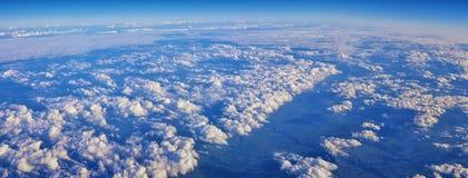 Powietrzny Cloudscape widok nad Midwest stanami na locie nad Kolorado, Kansas, Missouri, Illinois, Indiana, Ohio i Zachodnia Virg obraz stock