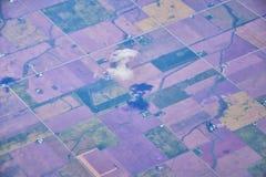 Powietrzny Cloudscape widok nad Midwest stanami na locie nad Kolorado, Kansas, Missouri, Illinois, Indiana, Ohio i Zachodnia Virg zdjęcia royalty free